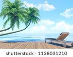 outdoor living on summer... | Shutterstock . vector #1138031210