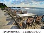 cozy restaurant with wooden... | Shutterstock . vector #1138032470