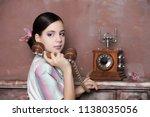 stunning vintage 1920s woman... | Shutterstock . vector #1138035056