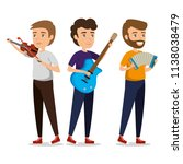 group of persons in concert | Shutterstock .eps vector #1138038479
