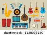 set musical instruments icons   Shutterstock .eps vector #1138039160