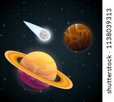 planets of the solar system... | Shutterstock .eps vector #1138039313