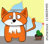 orange cat like a fox with a... | Shutterstock .eps vector #1138039490