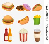 fast food restaurant menu | Shutterstock .eps vector #1138041950