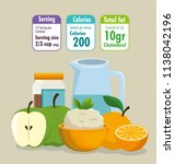 healthy food with nutritional... | Shutterstock .eps vector #1138042196
