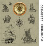 pirate map icons | Shutterstock . vector #113804530