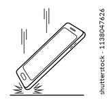 smartphone crash test and drop... | Shutterstock .eps vector #1138047626