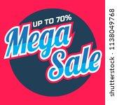 mega big sale promotion banner...   Shutterstock .eps vector #1138049768