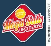 mega big sale promotion banner...   Shutterstock .eps vector #1138049774