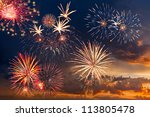 beautiful colorful holiday... | Shutterstock . vector #113805478