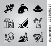 simple icon set of tropical... | Shutterstock .eps vector #1138058114