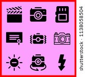 simple icon set of camera... | Shutterstock .eps vector #1138058504