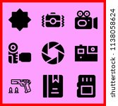 simple icon set of camera... | Shutterstock .eps vector #1138058624