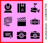 simple icon set of camera... | Shutterstock .eps vector #1138058750