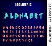 isometric 3d font. three...   Shutterstock .eps vector #1138064384