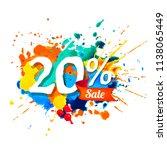 twenty percents sale. vector... | Shutterstock .eps vector #1138065449