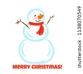 christmas greeting card with... | Shutterstock .eps vector #1138070549