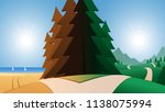 road and beach or mountains... | Shutterstock .eps vector #1138075994