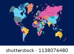 color world map vector | Shutterstock .eps vector #1138076480