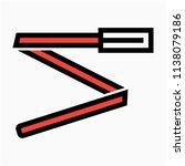coloured outline belt for woman ... | Shutterstock .eps vector #1138079186