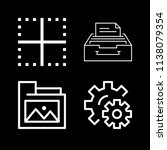 interface related set of 4... | Shutterstock .eps vector #1138079354