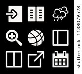 filled set of 9 interface icons ... | Shutterstock .eps vector #1138079528