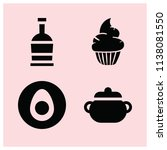 filled food icon set such as... | Shutterstock .eps vector #1138081550