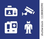 filled technology icon set such ... | Shutterstock .eps vector #1138083590