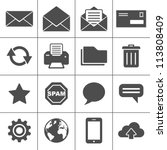 email icons. simplus series.... | Shutterstock .eps vector #113808409
