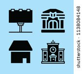 filled buildings icon set such... | Shutterstock .eps vector #1138084148