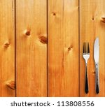 Silverware On The Wooden Table