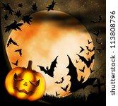 halloween illustration with... | Shutterstock . vector #113808796