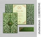 luxury wedding invitation or... | Shutterstock .eps vector #1138090940