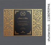 luxury wedding invitation or... | Shutterstock .eps vector #1138090946