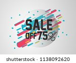 sale off 75  label  beautiful... | Shutterstock .eps vector #1138092620