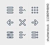 menu and ui icon set
