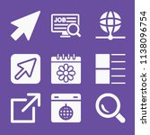 filled set of 9 interface icons ... | Shutterstock .eps vector #1138096754