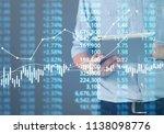 businessman plan graph growth... | Shutterstock . vector #1138098776