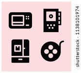 filled technology icon set such ... | Shutterstock .eps vector #1138101974