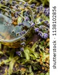 cup of tea lavender provence... | Shutterstock . vector #1138102856