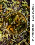 cup of tea lavender provence... | Shutterstock . vector #1138102883