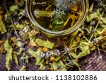 cup of tea lavender provence... | Shutterstock . vector #1138102886