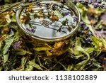 cup of tea lavender provence... | Shutterstock . vector #1138102889