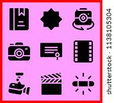 simple icon set of camera... | Shutterstock .eps vector #1138105304