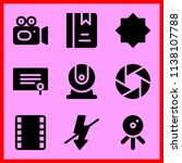 simple icon set of camera... | Shutterstock .eps vector #1138107788