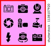 simple icon set of camera... | Shutterstock .eps vector #1138107920