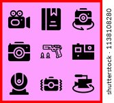 simple icon set of camera... | Shutterstock .eps vector #1138108280