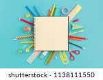 school notebook and various... | Shutterstock . vector #1138111550
