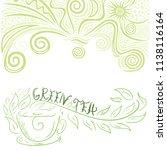 green tea. vector illustration   Shutterstock .eps vector #1138116164