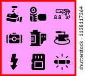 simple icon set of camera... | Shutterstock .eps vector #1138117364